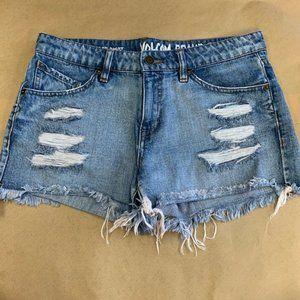 Volcom Highwaisted Distressed Denim Shorts